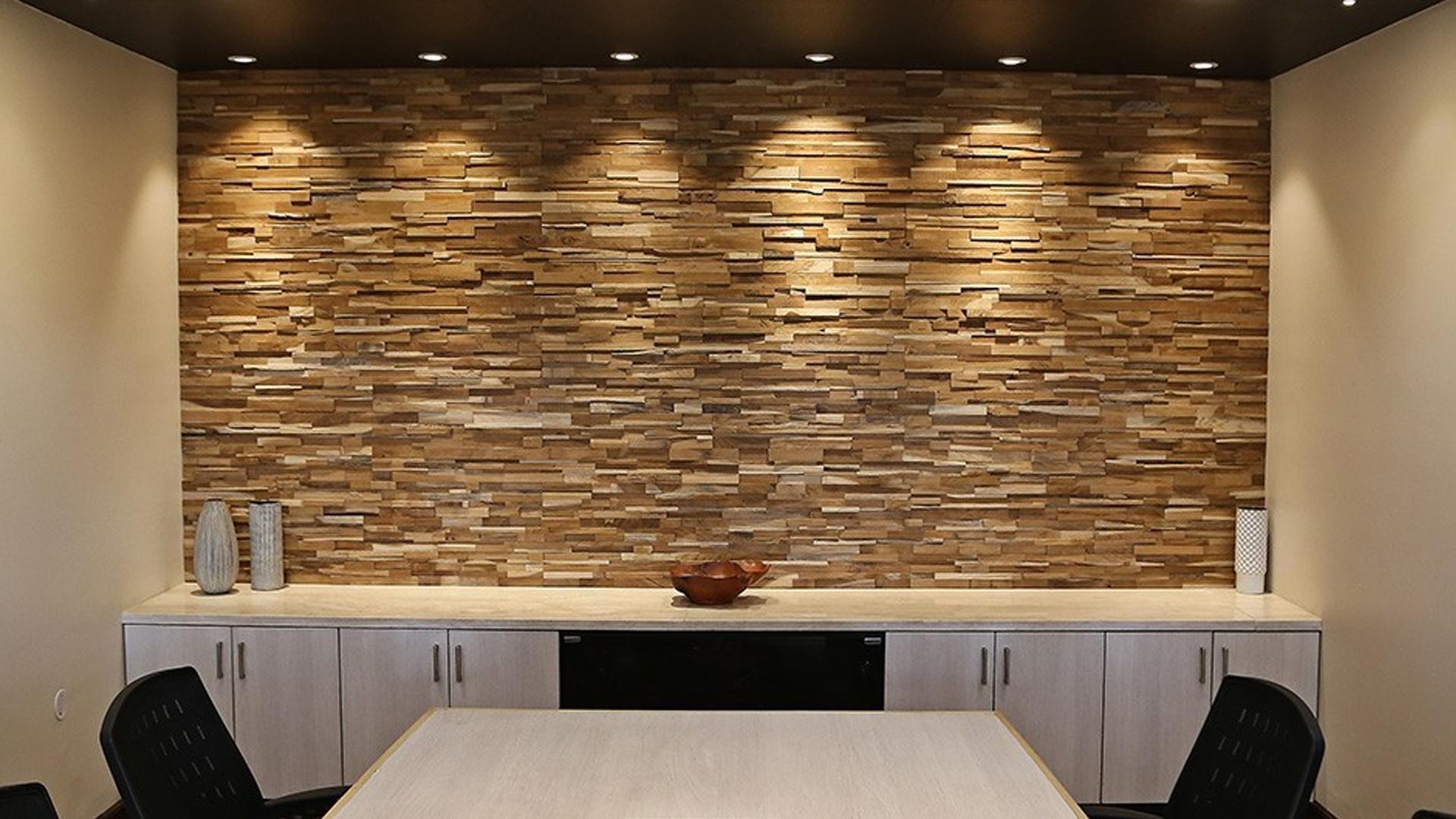 Pannelli decorativi rivestimento in fibra di bamboo rota commerciale