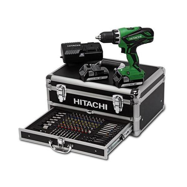 Trapano avvitatore Hitachi DV18DJ +box n.100 accessori - Rota Commerciale