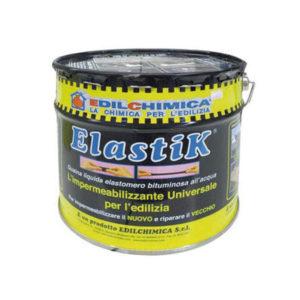 Elastik kg 10, elastik kg 1.2- catramina liquida, impermeabilizzante liquido,- Materiali edili- Rota Commerciale Bergamo