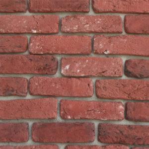 rivestimento mattoncino in pietra ricostruita Rota Commerciale brico rosso