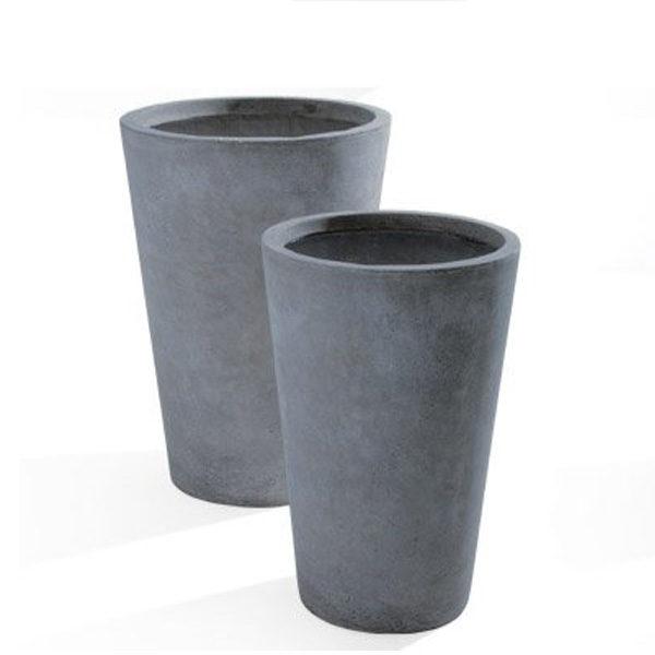 vaso maxime grigio- Arredo Giardino-Rota Commerciale