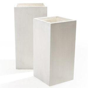 vaso bianco Roquebrune avorio- Rota commerciale - set 2 vasi