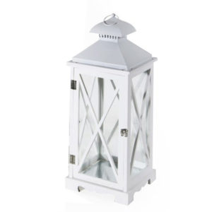 lanterne, lanterna piccola bianca Arles- Giardinaggio- Arredo giardino- Lanterne - Rota Commerciale