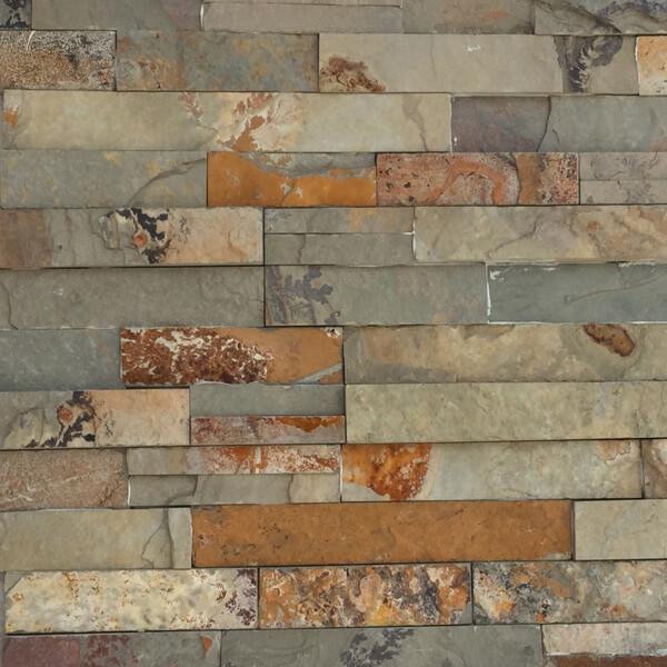 offerta rivestimento in pietra Ardesia multicolor- Rota Commerciale materiali edili Bergamo Giardinaggio Bergamo
