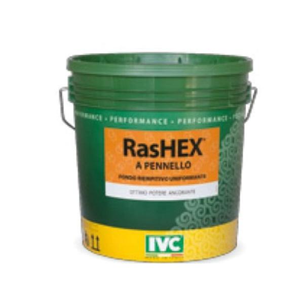 Rashex a pennello , fondo riempitivo uniformante pareti, IVC, colorificio Rota Commerciale Bergamo