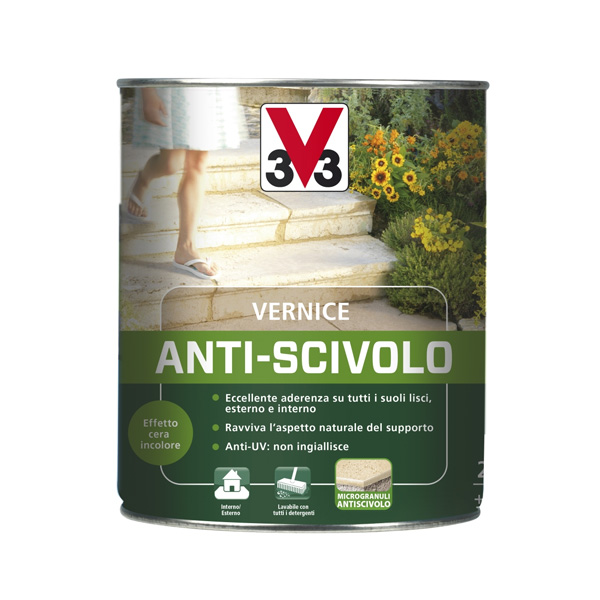 Vernice antiscivolo per esterni V33, impermeabilizzante trasparente per pavimenti esterni, impermeabilizzante pavimenti esterni, Colorificio Bergamo, Rota Commerciale Bergamo