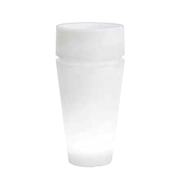 vaso moderno bianco in plastica, vaso per esterno, vasi in plastica, arredo giardino Bergamo. Giardinaggio Bergamo
