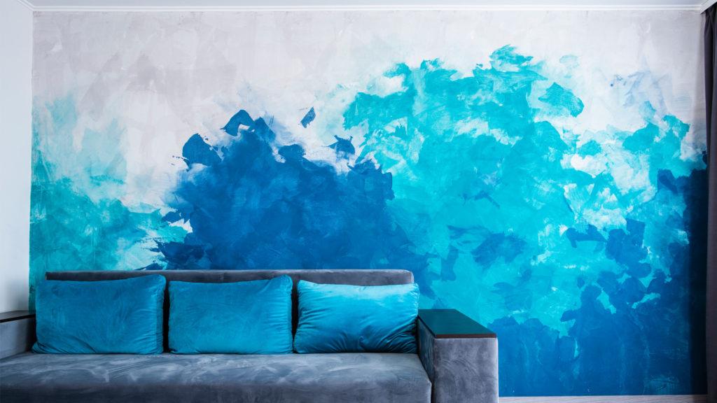 pitture decotarive, come tinteggiare le pareti di casa in modo originale con pittura per pareti effetti, parete a righe, Colorificio Bergamo, Rota Commerciale Bergamo