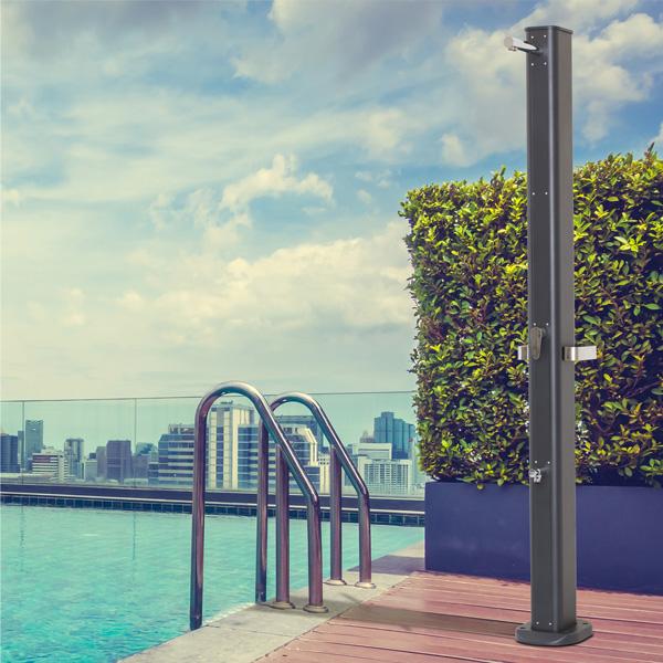doccia solare da giardino, doccia solare per esterno, doccia solare esterna, doccia solare da esterno, Giardinaggio Bergamo, Fontane Bergamo doccia solare Bergamo, Rota Commerciale Bergamo