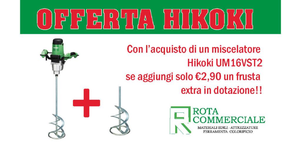 OFFERTE HIKOKI, offerta hikoki, frustra extra, miscelatore UM16VST2 , ferramenta Bergamo, Rota Commerciale Bergamo