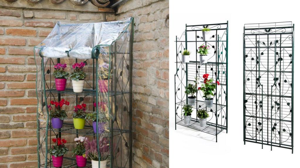 serra da balcone, serre da balcone , serra per terrazze, serra a ripiani, giardinaggio Bergamo, Rota Commerciale Bergamo