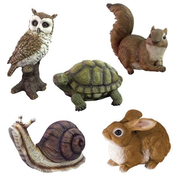 statuette da giardino, statue da giardino animali in redina, animaletti da giardino, animali da giardino in resina, Giardinaggio Bergamo, Rota Commerciale Bergamo