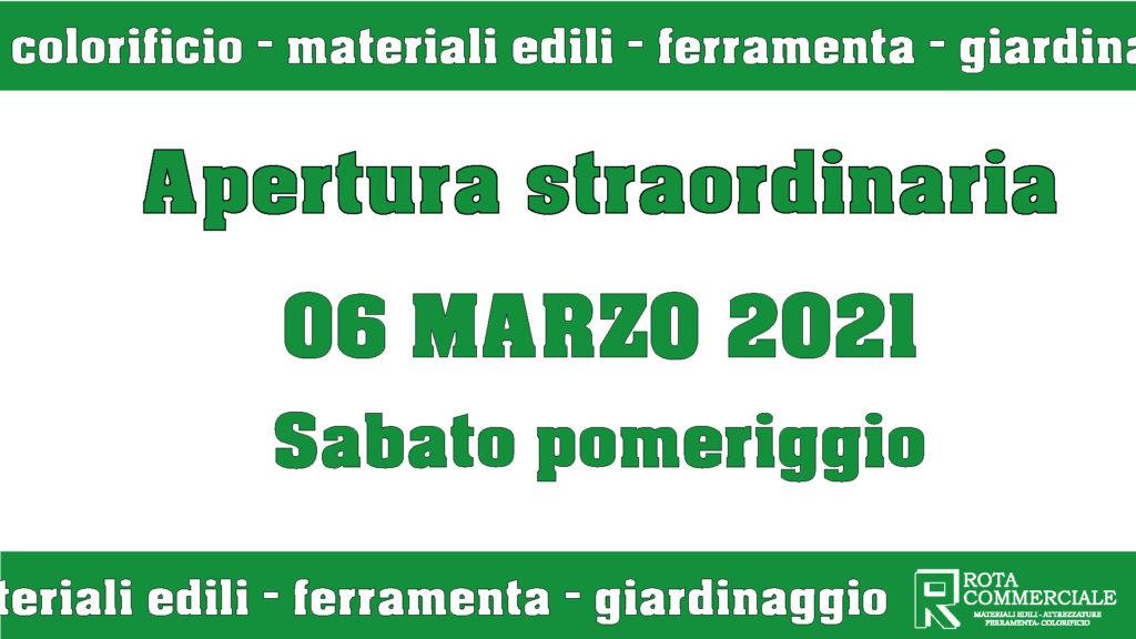 apertura straordinaria sabato pomeriggio 6 marzo ferramenta Bergamo, giardinaggio, materiali edili, colorificio Bergamo, Rota Commerciale