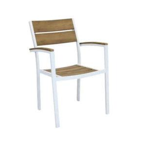 sedie da giardino, sedie da esterno bianca e taupe, sedie effetto elgno, sedie polywood, sedia Cayman, arredo giardino Bergamo, giardinaggio Bergamo , Rota Commerciale Bergamo