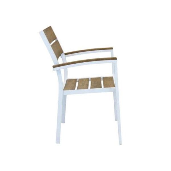 sedie da giardino, sedie da esterno bianca e taupe, sedie effetto elgno, sedie polywood, sedia Cayman, arredo giardino Bergamo, giardinaggio Bergamo , Rota Commerciale Bergam