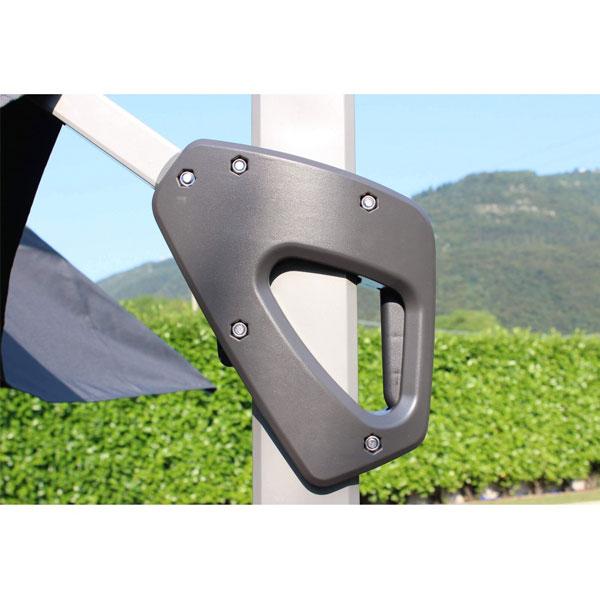 ombrellone grigio 3x3 darwin, ombrellone da giardino, ombrello da esterno, ombrellone in metallo, ombrelloni giardino, ombrelloni metallo, ombrelloni da esterno, ombrellone da esterno